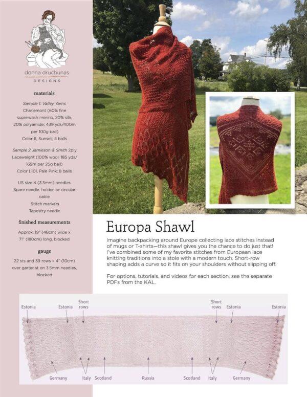 Europa Shawl Pattern 1