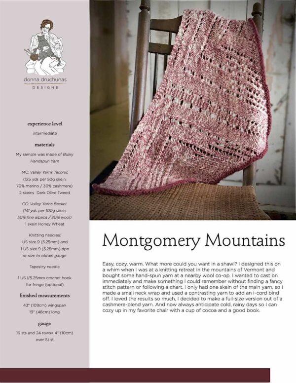 Montgomery Mountains Shawl Pattern 1