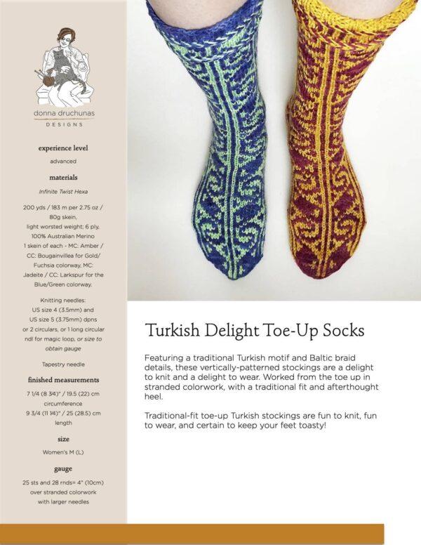 Turkish Delight Socks Pattern 1