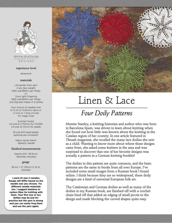 Linen & Lace Knitted Doilies 1
