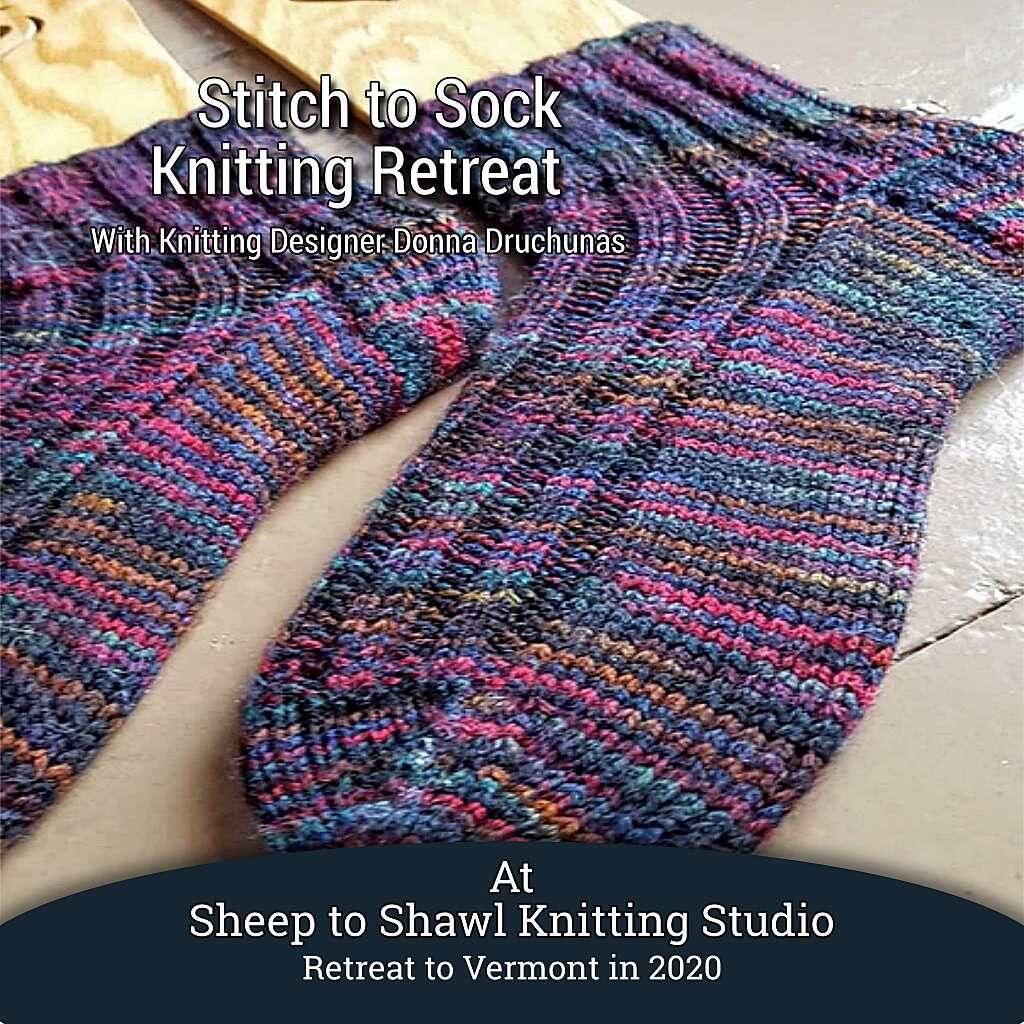 String to Sock Knitting Retreat 1
