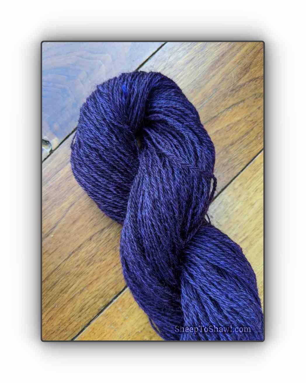 Deep Purple - Snug Valley Coopworth Yarn 1