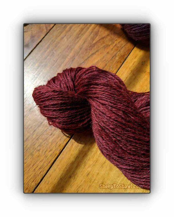 Cherry - Snug Valley Coopworth Yarn 1