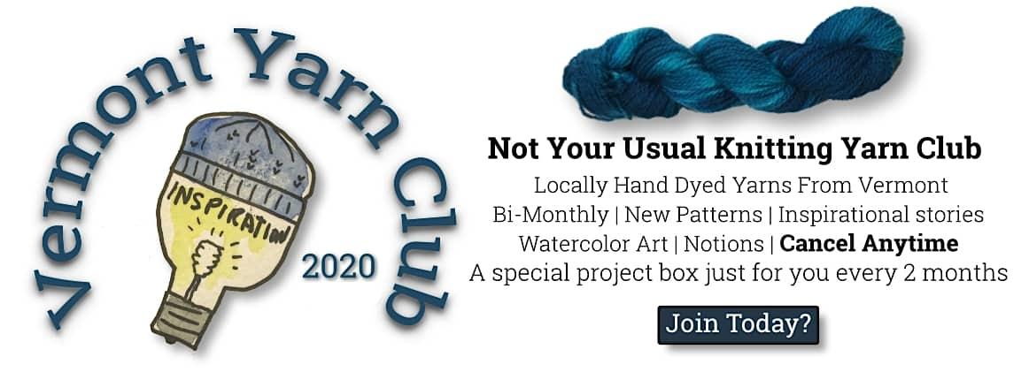 The Knitting Inspiration Vermont Yarn Club 2020 1