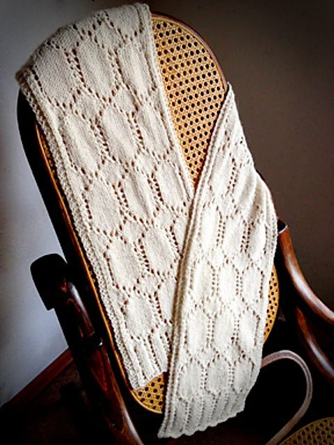 Ivory Needle Case Scarf | Knitting Pattern 4