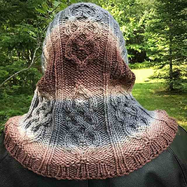 Parts Unknown Knitted Hood Cowl Pattern 2