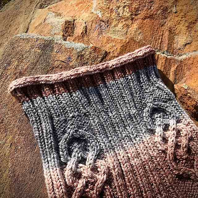 Parts Unknown Knitted Hood Cowl Pattern 3