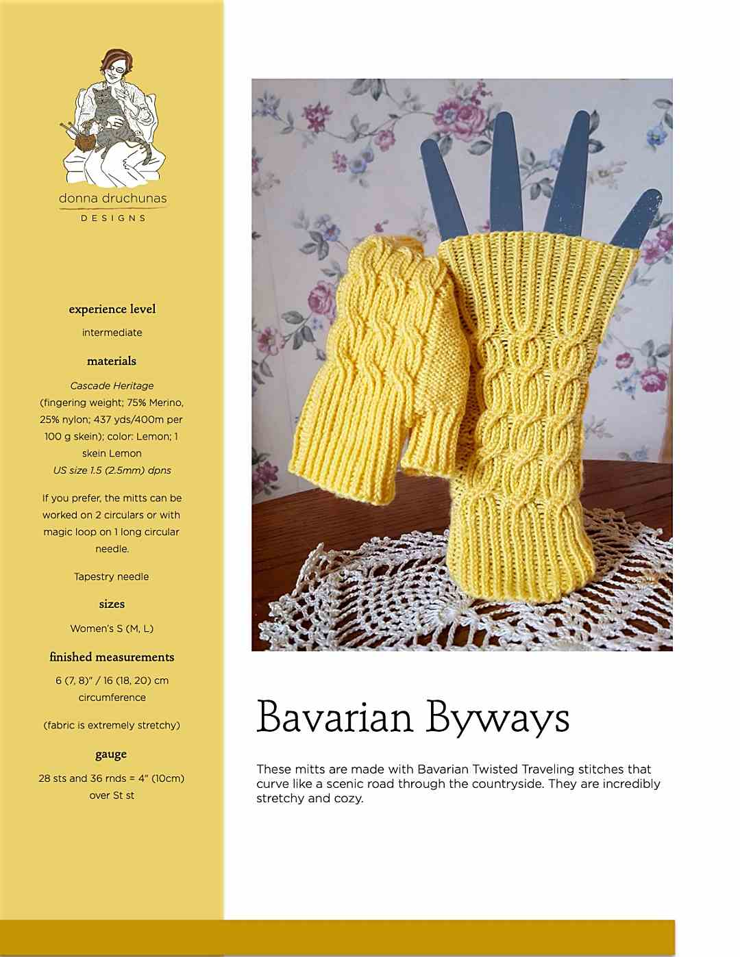Bavarian Byways Mitts   Knitting Pattern 1
