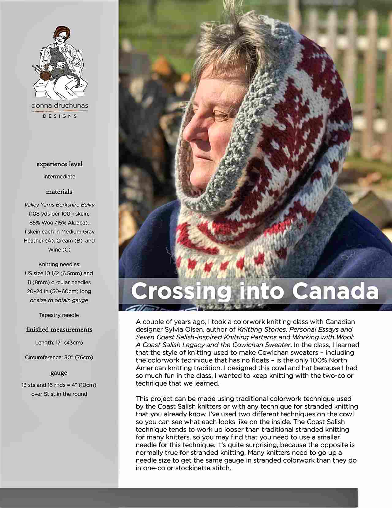 Crossing Into Canada Hood/Cowl Pattern 1