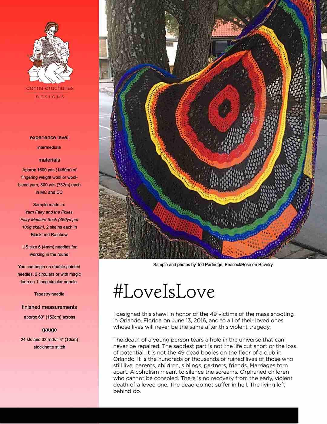 Love is Love Shawl 1