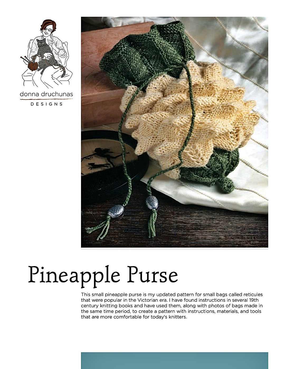 Victorian Pineapple Purse Pattern 1