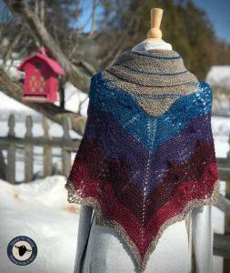 Purple Mort Bleu Butterly Knit Along - 5023 11