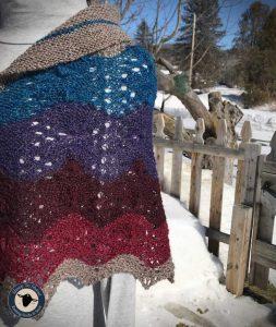 Purple Mort Bleu Butterly Knit Along - 5023 5