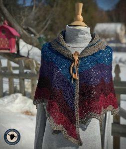 Purple Mort Bleu Butterly Knit Along - 5023 15